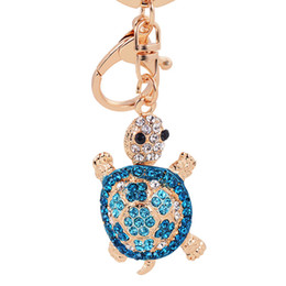 turtle purses Australia - Cute Trinket Tortoise Turtle Pendant Charm Rhinestone Crystal Purse Bag Keyring Keychains Accessories Wedding Friend Lover Gift