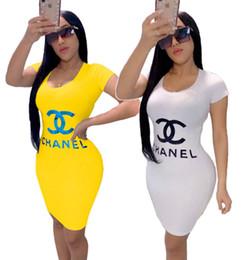 $enCountryForm.capitalKeyWord Australia - Women designer brand mini dresses summer clothes elegant sheath column sexy club bodycon dress holiday party dress scoop neck hot sell 968