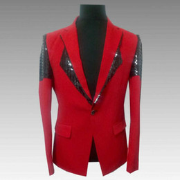 $enCountryForm.capitalKeyWord Australia - Hot Men's sequin costume suit 2019 new Korean version of the self-cultivation red casual suit jacket male