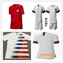 375efa55c52 2019 2020 USA PULISIC Soccer Jersey 18 19 Women men kids kit DEMPSEY  BRADLEY ALTIDORE WOOD America Football jerseys United States Red Shirt