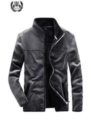 $enCountryForm.capitalKeyWord NZ - 2019 Spring Men Fleece Flannel Liner Coats Jackets Casual Fashion Soft Stand Collar Drop Shipping Brand Clothes Jacket Coats