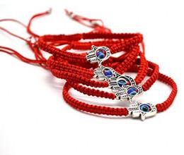 $enCountryForm.capitalKeyWord Australia - lucky Luck ! 2pcs Hand of Fatima KABBALAH HAND Made Red String Good Lucky Bracelet Kabala Protection Men Women Gifts M99