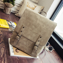 Khaki Backpack Sale Australia - hot sale Europe pu leather Backpack 2019 new woman backpack traveling bags fashion student schoolbags laptop bags free shipping