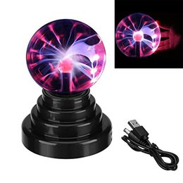 $enCountryForm.capitalKeyWord Australia - Plasma Ball Lamp Magical Night Lights Sphere Lightning Table Lamps Touch Sensor Light Novelty Toy For Party Home Office Decor