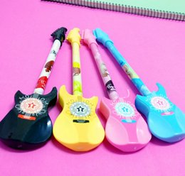 Wholesale Best selling gel pens Creative Stationery Cute Guitar Style Neutral Pen Violin Water based Pen Children s Prize Gift311
