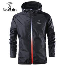 Long Windbreaker Jackets Australia - 2019 New Spring Summer Mens Fashion Outerwear Windbreaker Men' S Thin Jackets Hooded Casual Sporting Coat Big Size C19041701
