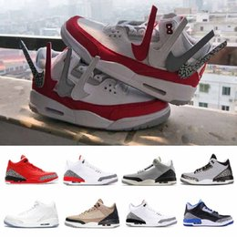 fde8aadb9a51 3S 3 Basketball Shoes Men Tinker Sneakers Blue Cyber Monday Fire Red Wolf  Grey Black Cement Wool Sport shoes Athletic EUR 40-47