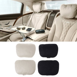 class accessories Australia - Hot New 2 Pcs Universal Auto Car Headrest Maybach S Class Ultra Soft Neck Pillow 2 Colors Interior Accessories
