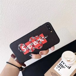 Snake Cases NZ - Wholesale Fashion Phone Case with Cool Snake Around Letters Tiger for IphoneX 7P 8P 7 8 6 6sP 6 6s TPU Cool Fashion Phone Case.