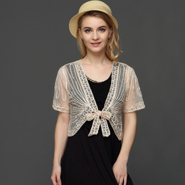 $enCountryForm.capitalKeyWord Australia - Summer Thin Short Sleeve Handmade Crochet Lace Mesh Shrug Bolero Women Embroidery Cardigan Feminino Short Cape Oversized Tops