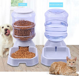$enCountryForm.capitalKeyWord Australia - 3.8L Pet Automatic Feeder Dog Cat Drinking Bowl For Dog Water Drinking Cat Feeding Large Capacity Dispenser Pet Cat Dog