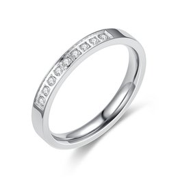 5791c938b6 3mm Rosy Gold (Silver) Titanium Stainless Steel Couple Lover Wedding  Promise Band Matching Set Korean Style Ring with Micro CZ Comfort Fit