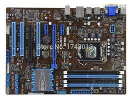 Ingrosso Spedizione gratuita originale della scheda madre per P8B75-V DDR3 LGA 1155 B75 32 GB per I3 I5 I7 CPU USB 3.0 b75 Desktop motherborad