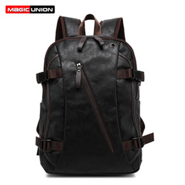 $enCountryForm.capitalKeyWord Australia - Magic Union Men Oil Wax Leather Backpack Men's Casual Backpack & Travel Bags Western College Style Man Backpacks Mochila Zip Men Y19061102