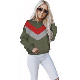 8df12a51736 Baggy Sweatshirts NZ - Women Ladies Sweatshirt Long Sleeve Baggy Autumn  Splice Tops Jumper Crew Neck