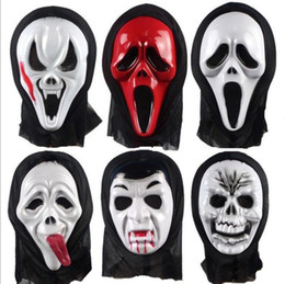 $enCountryForm.capitalKeyWord Australia - Horror Skull Masks Halloween Party Decor masks Screaming Skeleton Grimace Props Full Face For Men Women Masquerade Masks CCFYZ98