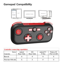 $enCountryForm.capitalKeyWord Australia - Red Wizard Mini Bluetooth Game Handle LED Key Portable Receive Chicken Wireless Bluetooth Handle