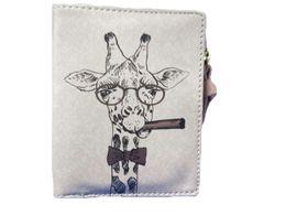 Sleeper # 501 2019 novas mulheres Giraffe Vintage Coin clipe da placa da bolsa da carteira de curto carteira de embreagem pequenas bolsas de mão presentes frete grátis