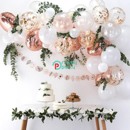 white rose garland wedding Australia - 54pcs lot Rose Gold Balloon Arch Kit White Latex Garland Balloons Baby Shower Supplies Backdrop Wedding Party Decor T190923