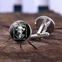 Jack Gifts Australia - Jack Daniels Cufflinks Time Gem Glass Cufflinks Game Related Jewelry Cute Gifts for Man and Women Clothes
