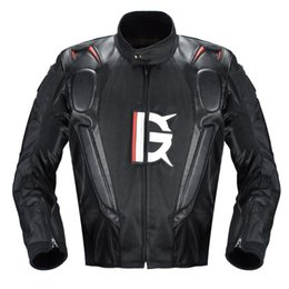 pu racing jacket motorcycle UK - PU Leather Motorcycle Jackets Windproof Moto Coat Road Riding Racing Motocross Thermal Liner Protective Gear Windbreaker Men