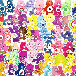 $enCountryForm.capitalKeyWord Australia - 53pcs pack Cartoon Cute love rainbow bear Stickers Scrapbooking Label Diary Album suitcase Stickers Classic Toy gift decals
