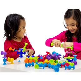 $enCountryForm.capitalKeyWord Australia - New Soft Building Blocks Kids Diy Sucker Funny Silicone Block Model Construction Boys Girls Toy For Children Christmas Gift MX190730