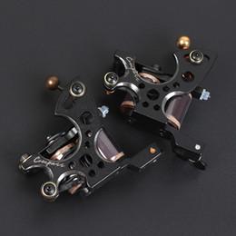 $enCountryForm.capitalKeyWord Australia - Professional Dragonhawk Compass Tattoo Machines Coils Machines Liner Shader 2pcs Guns Steel Frame Copper Coils Set