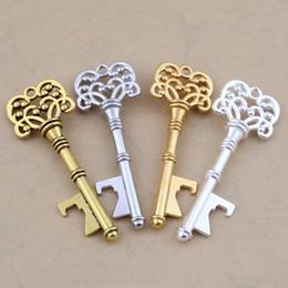 $enCountryForm.capitalKeyWord Australia - Keys Pattern Bottle Opener Multi Function EDC Alloy Pendants Couple Keychain Gold Silvery Birthday Present Popular