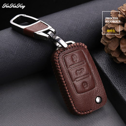 $enCountryForm.capitalKeyWord Australia - For VW Golf Bora Jetta POLO GOLF Passat Skoda Octavia A5 A7 Fabia SEAT Ibiza Leon Car Key Ring Chain Protective Key Shell Skin