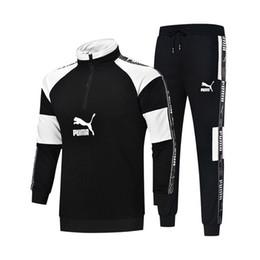 $enCountryForm.capitalKeyWord UK - Men's Sports Set Side Custom Ribbon Letter Print Simple Color Matching Upper body generous and stylish