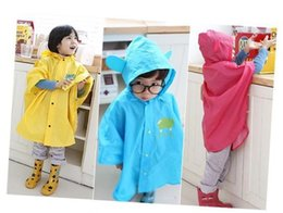 Small red roSeS online shopping - New style small children raincoats with big ears yellow rose red and blue Cape raincoat K0310
