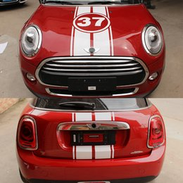 $enCountryForm.capitalKeyWord Australia - Hood + Trunk Engine+Rear 37 Anniversary Stickers And Decals For Mini Cooper one F55 2015-2016, F56 2014-2016