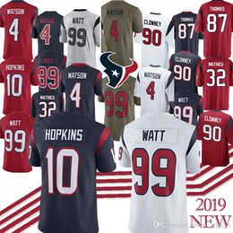 Footballs Free shipping online shopping - 4 Deshaun Watson J J Watt DeAndre Hopkins Jadeveon Clowney Demaryius Thomas Jersey