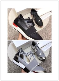 Mesh Genuine Leather NZ - Fashion luxury Designer Sneaker Man Woman Casual Shoes Genuine Leather Mesh pointed toe Race Runner Shoes Outdoors Trainers With Box A+