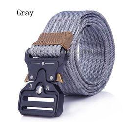 Active Alloys Australia - 125cm Heavy Duty Gray Grey Men Belt Mens Designer Belts Ceinture Tactical Nylon Adjustable Buckle Alloy Outdoor Sports Active Waist Strap