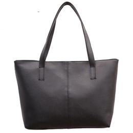 Brief Bags Australia - good quality Bag 2019 Fashion Women Leather Handbag Brief Shoulder Bags Gray  black Large Capacity Handbags Tote Bags Design