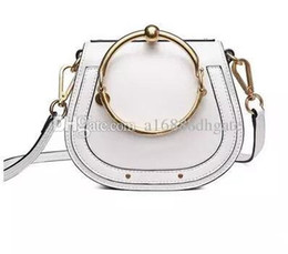 Chinese  Portable bag ring Circle saddle bags NILE retro small semicircle metal bracelet Leather women Shoulder Bag Handbag manufacturers