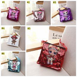 Handbags for cHildren online shopping - Cartoon Kids handbag Children Messenger Bags Girl Dolls School Bag Satchel for Girls Crossbody Shoulder Bags Clutch Pouch LJJM1992