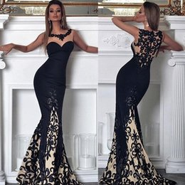 black lace fishtail evening dress Australia - Women's Sexy Off Shoulder Black Bardot Lace Evening Gown Fishtail Maxi Dress