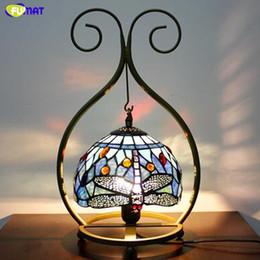 $enCountryForm.capitalKeyWord Australia - FUMAT European Creative Table Lamps Living Room Bar Baroque Lamps LED Home Decor Tiffany Stained Glass Desk Lights For Bedside