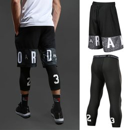 Wholesale men sports set for sale – designer Men Basketball Short Sets Sport Gym QUICK DRY Workout Board Shorts Tights For Male Soccer Running Fitness Yoga Short