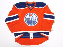 07df8aaac Cheap custom EDMONTON OILERS THIRD ORANGE TEAM ISSUED EDGE 2.0 JERSEY stitch  add any number any name Mens Hockey Jersey XS-6XL
