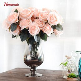 $enCountryForm.capitalKeyWord Australia - 10 Head French Real Touch Silk Roses Flower Bouquet Artificial Flower Bouquet Wedding Car Decorationhome Decoration Flowers P30 J190711