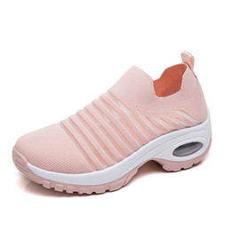 ee0220ede size 36-42 women casual socks wedge platform weight loss workout Ladies  elasticity breathable walking sport shoes woman sneakers