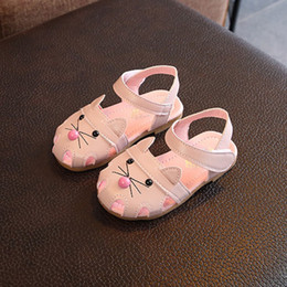 China Baby Girl Sandals Catton Cat Baby Prewalker Walking Toddler Sandals Soft Sole garden shoes cheap sandal prewalker suppliers