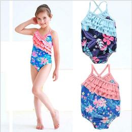 Girls bathinG suit bikini online shopping - Baby Swimwear Girls One Piece Bikini Kids Flower Floral Swimwear Child Printed Swimsuits Summer Bathing Suit Maillot De Bain Clothes E327