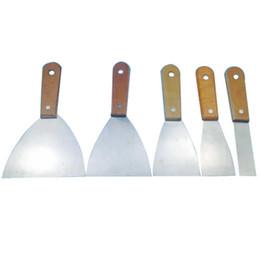 Manche en bois couteau à mastic grattoir lame grattoir mur outil de plâtrage outil à main couteau en acier au carbone pour outils de construction en Solde