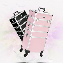 $enCountryForm.capitalKeyWord NZ - Women's professional trolley cosmetic case portable makeup rolling luggage Nail art tattoo beauty travel suitcase Multi-layer