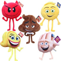 Toy Boy Movie Australia - New arrival 20cm Funny The Emoji Movie Kids 5 Expressions Cartoon Plush Toy Stuffed Toy Dolls Children Boys Girls Gift